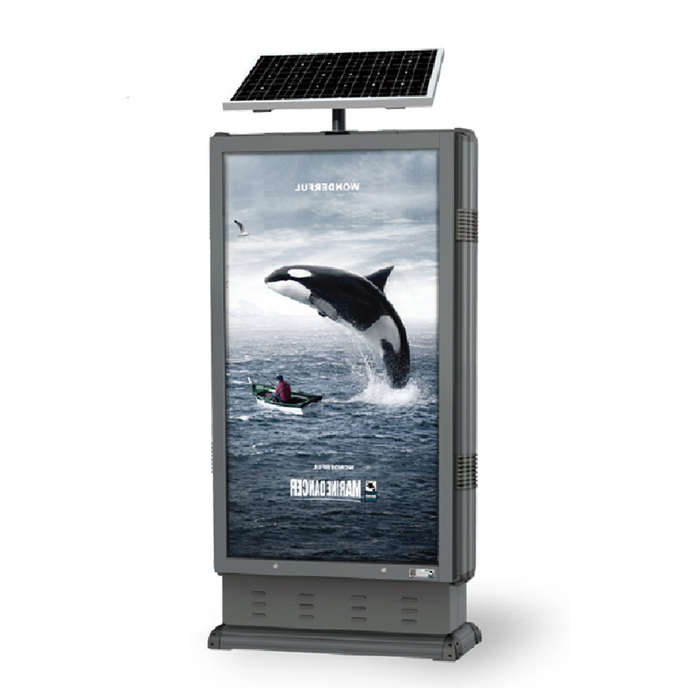 Solar Trash Advertising Light Box 009