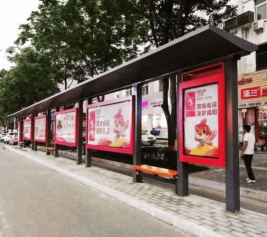 High Quality Advertising Aluminum Bus Station Shelters For S