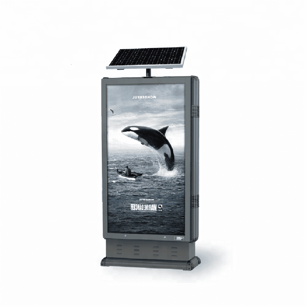 China solar power trash can advertising light box D009