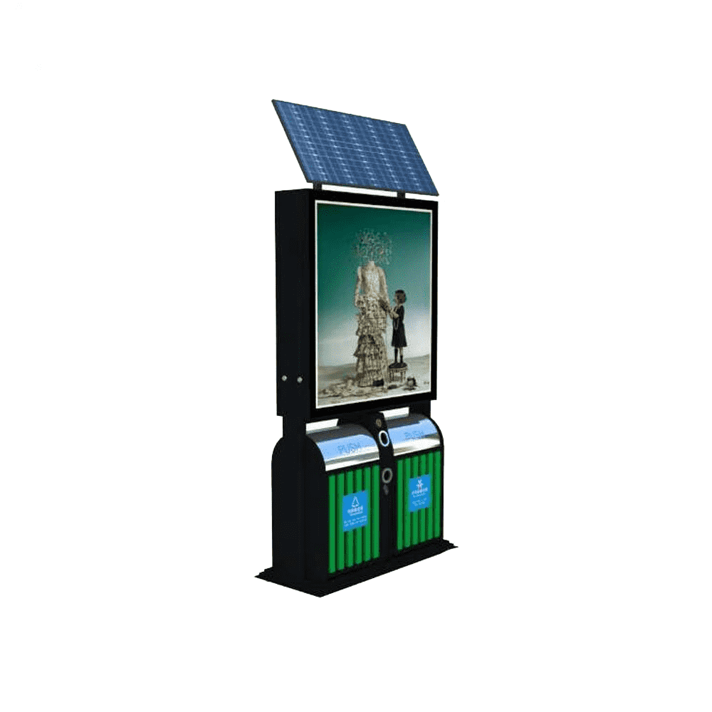 Excellent quality outdoor solar panel advertising light box
