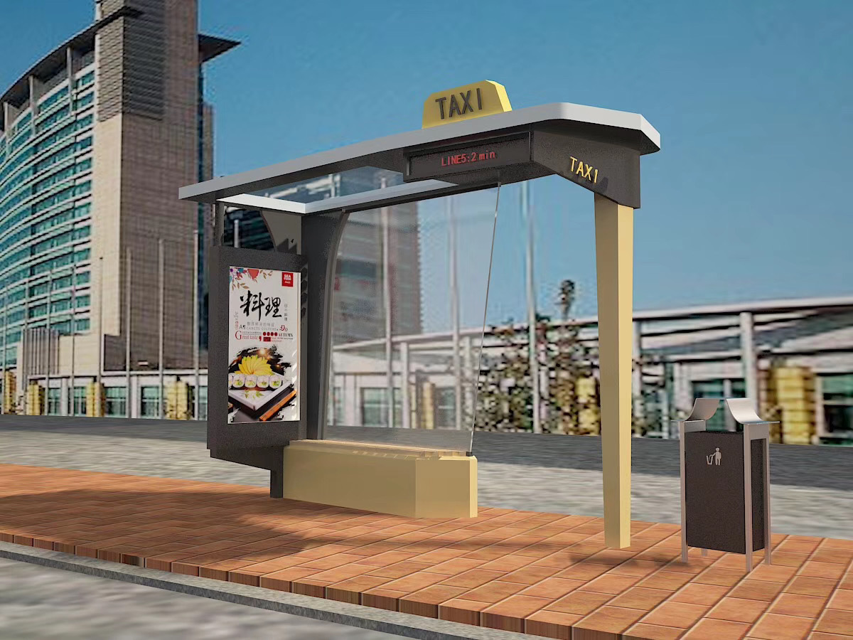High Quality Bus Stop Shelter outdoor furniture bus shelter