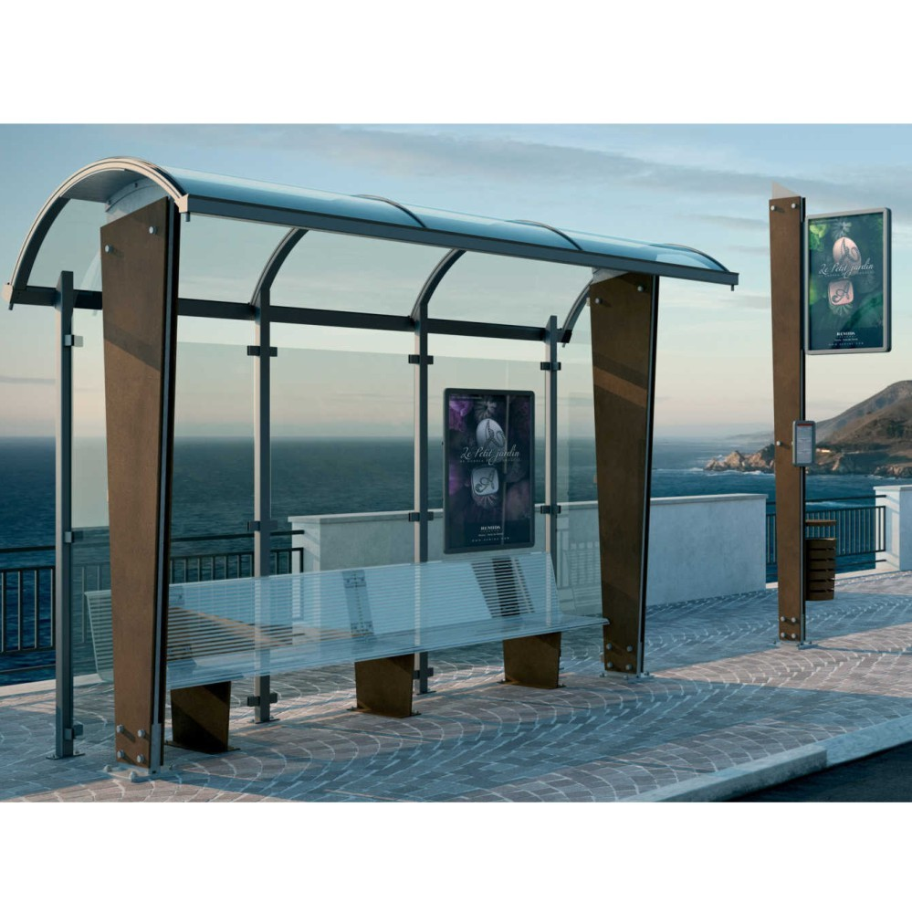 Bus Stop video Outdoor Advertising Screen Bus Stop Box Roofi
