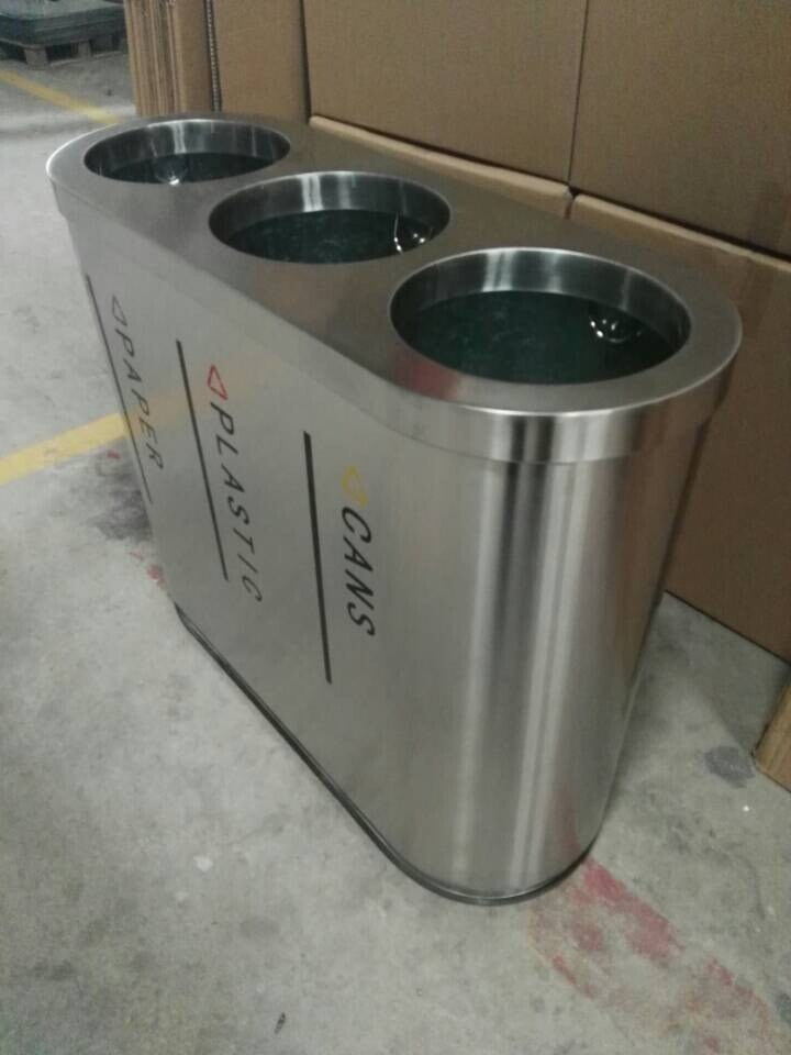 Urban Street Furniture Outdoor Park Used Single Trash Bin Ro