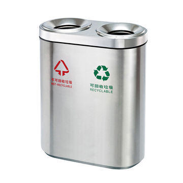 garden furniture outdoor stainless steel trash can for park