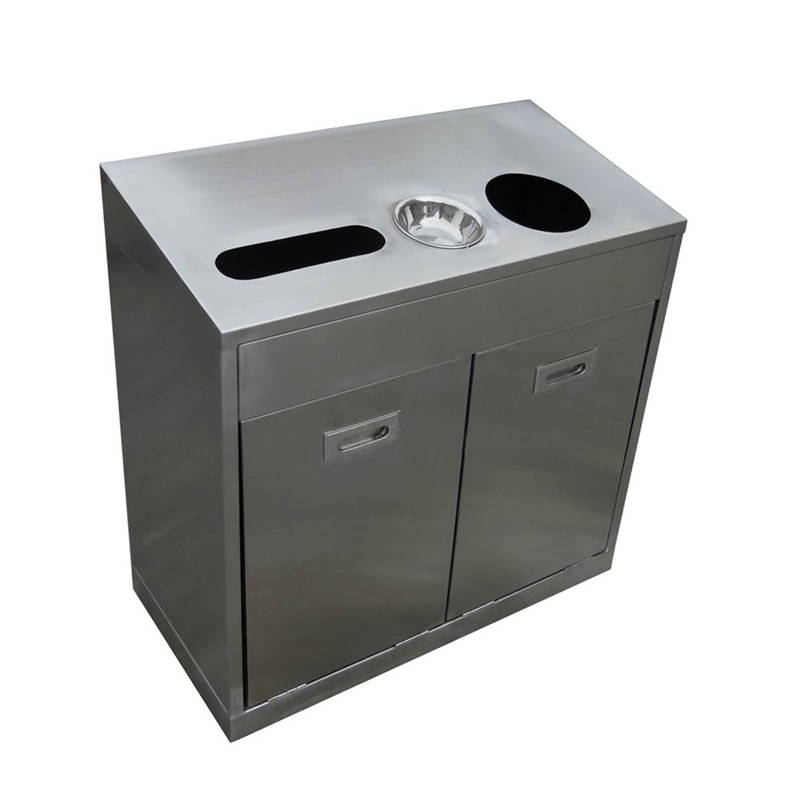recycling stainless steel ashtray dustbin for street H005g