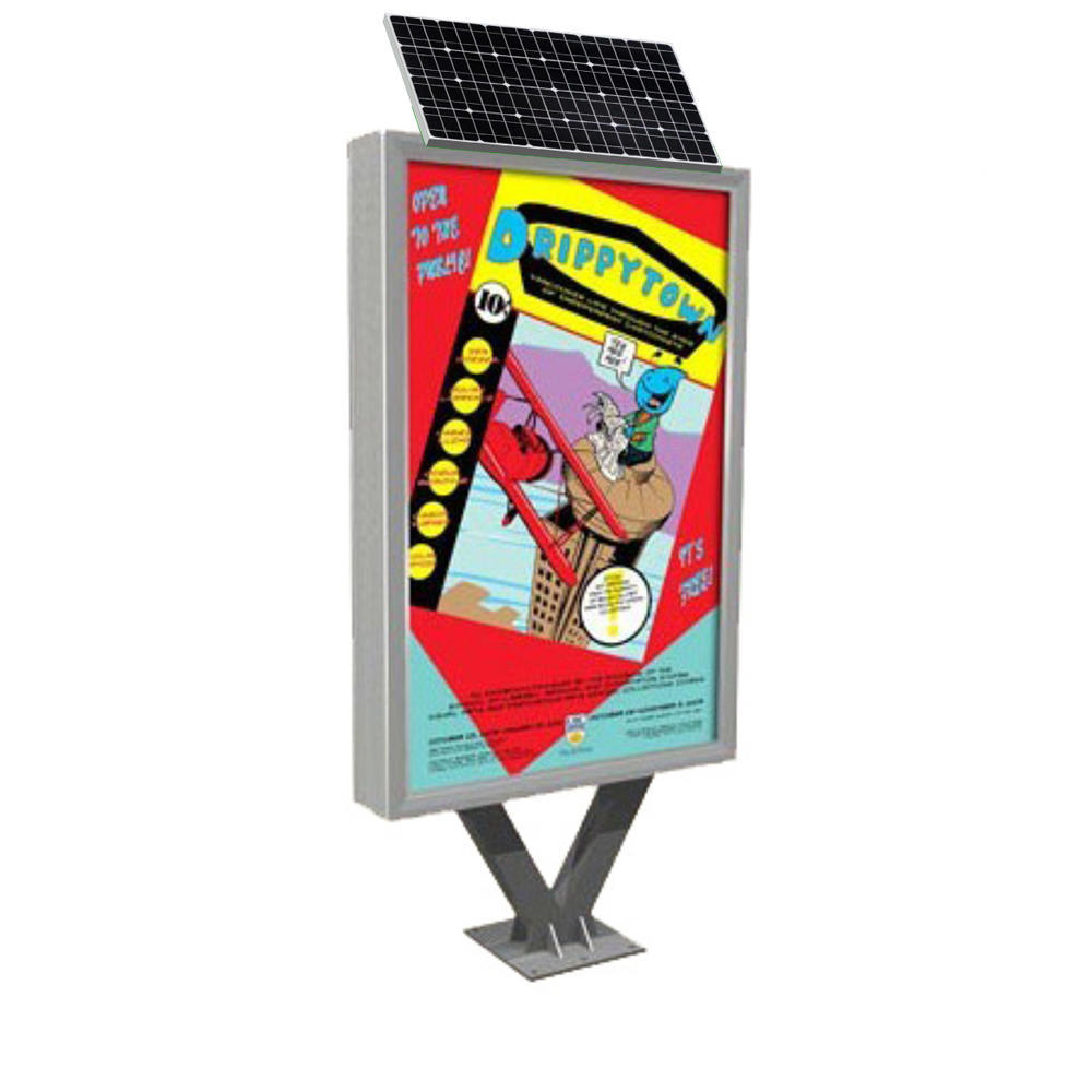 advertising solar powered light box with LED lights D014