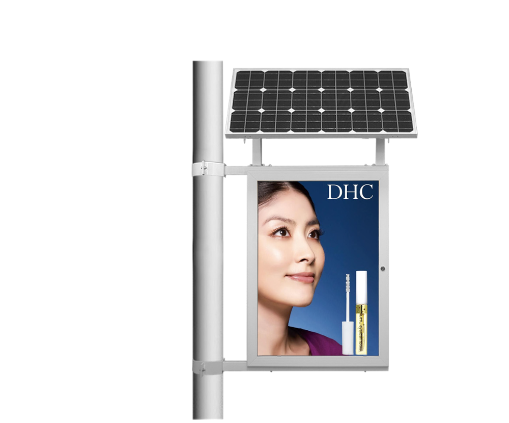 Outdoor Public Advertising Standing Solar Powered Mupi Light