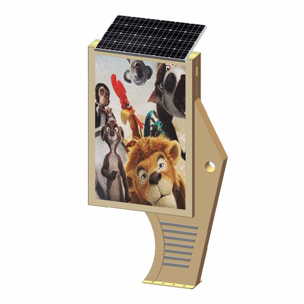 advertising solar powered light box with LED lights D003g