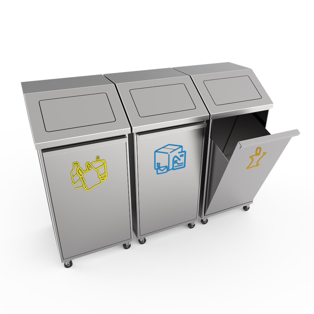 Airport high level class stainless steel recycling trash bin