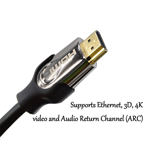 hdmi cable ,support DH 1080P, 3D film, 4k ,Ethernet