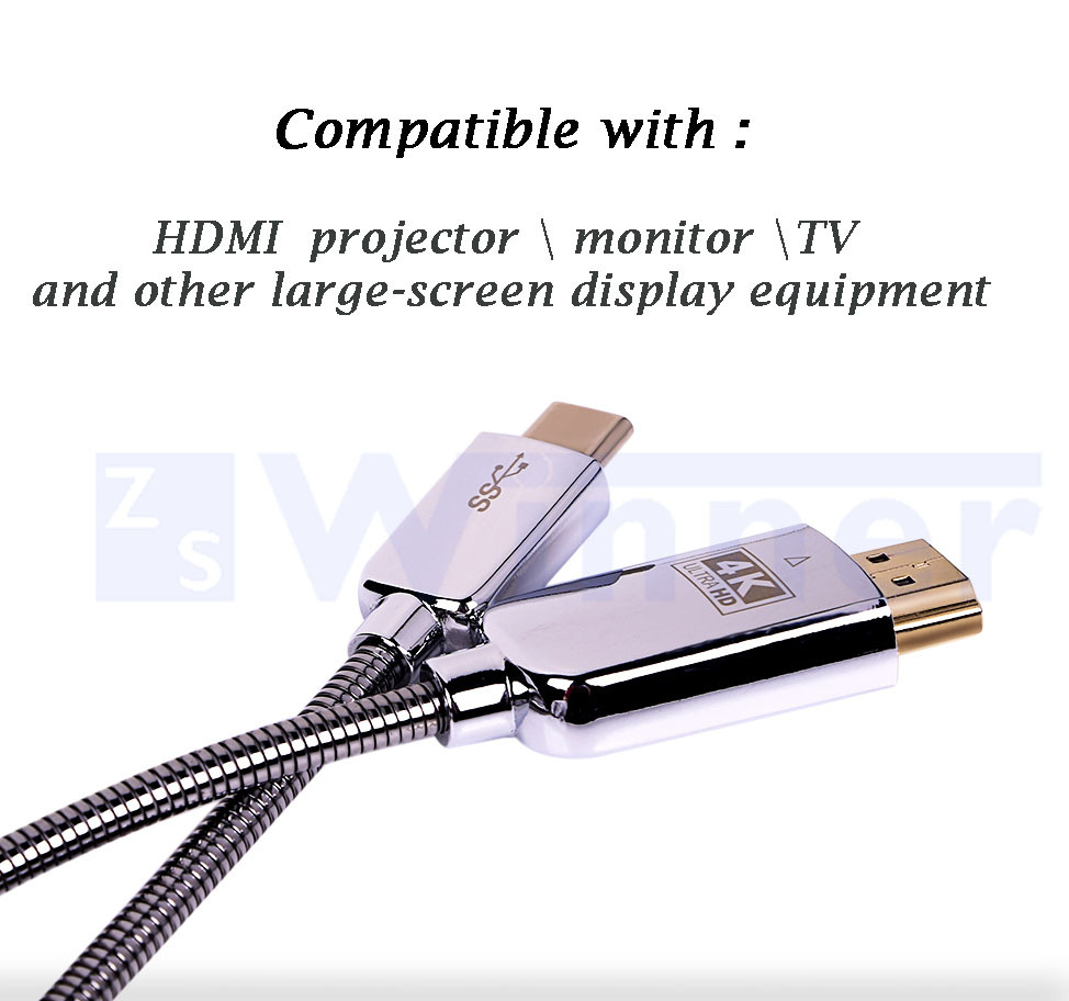 USB C to HDMI,USB type c , usb-c ,Macbook,Smart Phones