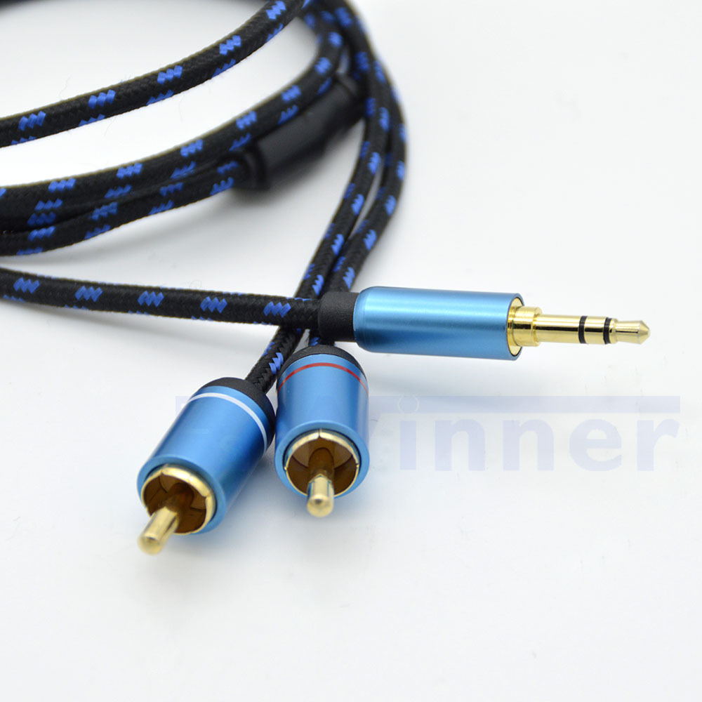 2RCA Cable,headphone jack,Audio Y adapter,Stereo Audio cable