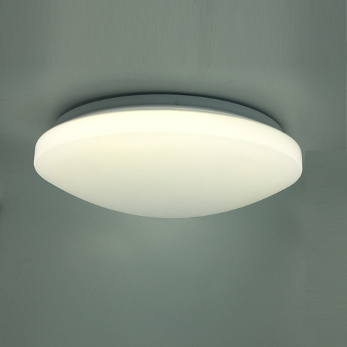 Pure white ceiling light with high side mashroom