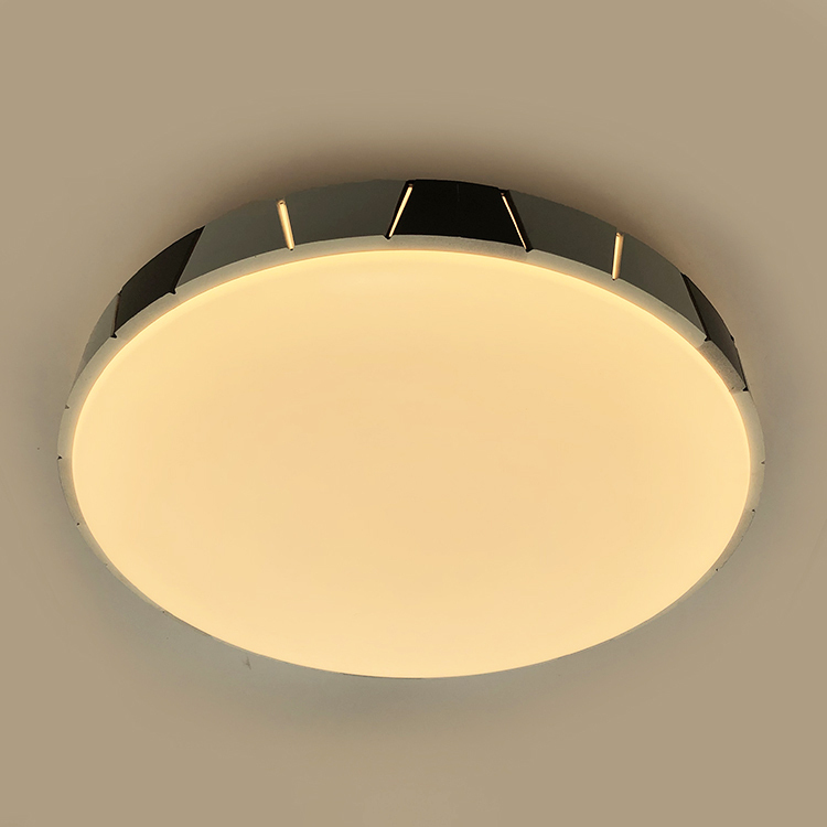 White plain decor frame north european style LED ceiling lam