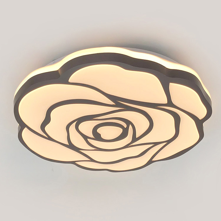 elegant rose design fresh style  LED ceiling lamp for bedroo