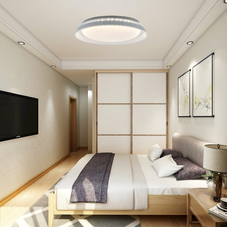 LED light elegant feel to living room bedroom