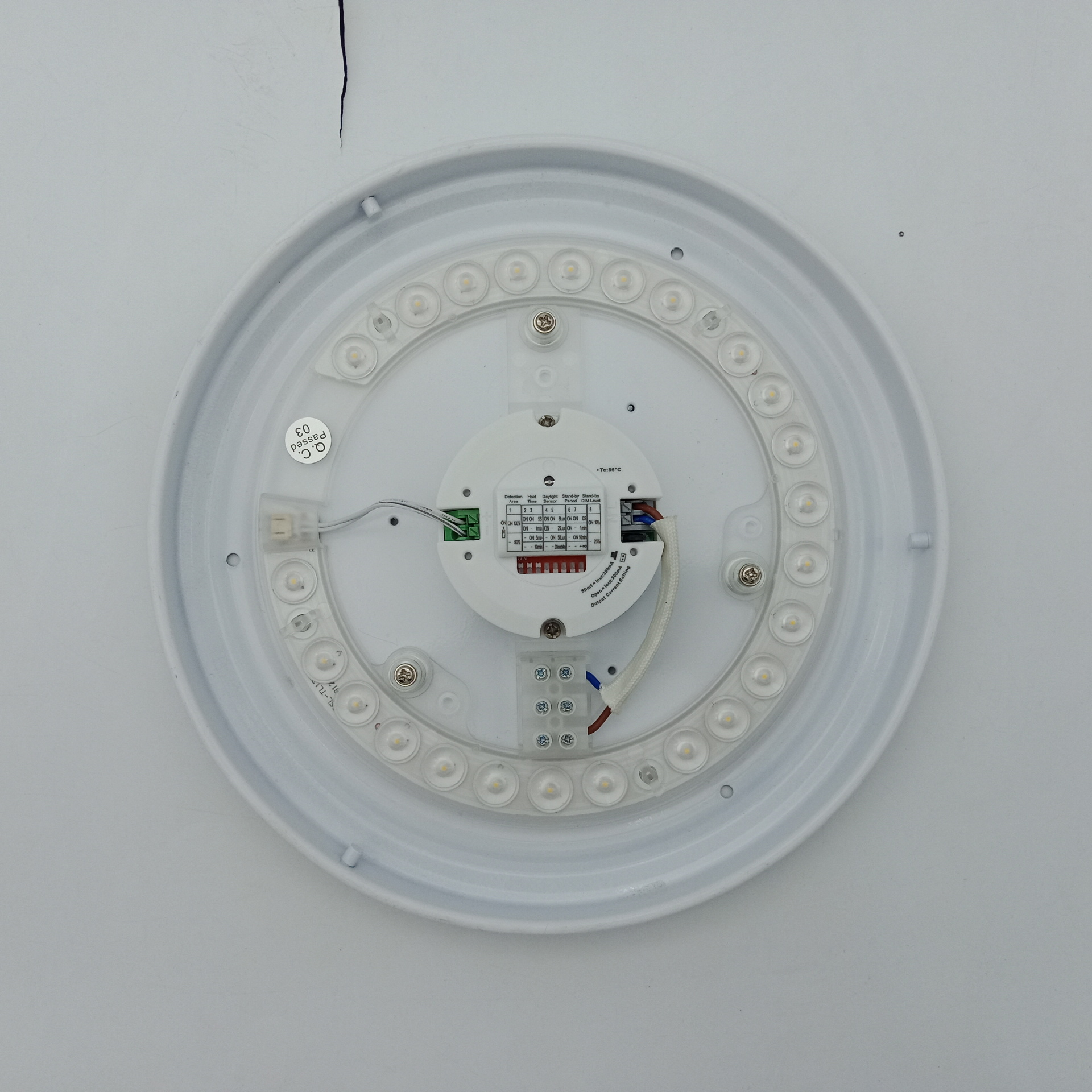 adjustable microwave motion activated sensor led module