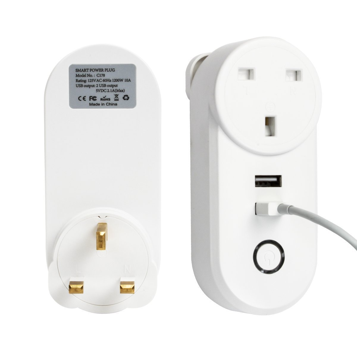 Wifi Smart Power Plug USB Wall Switch Socket Google Assitanc