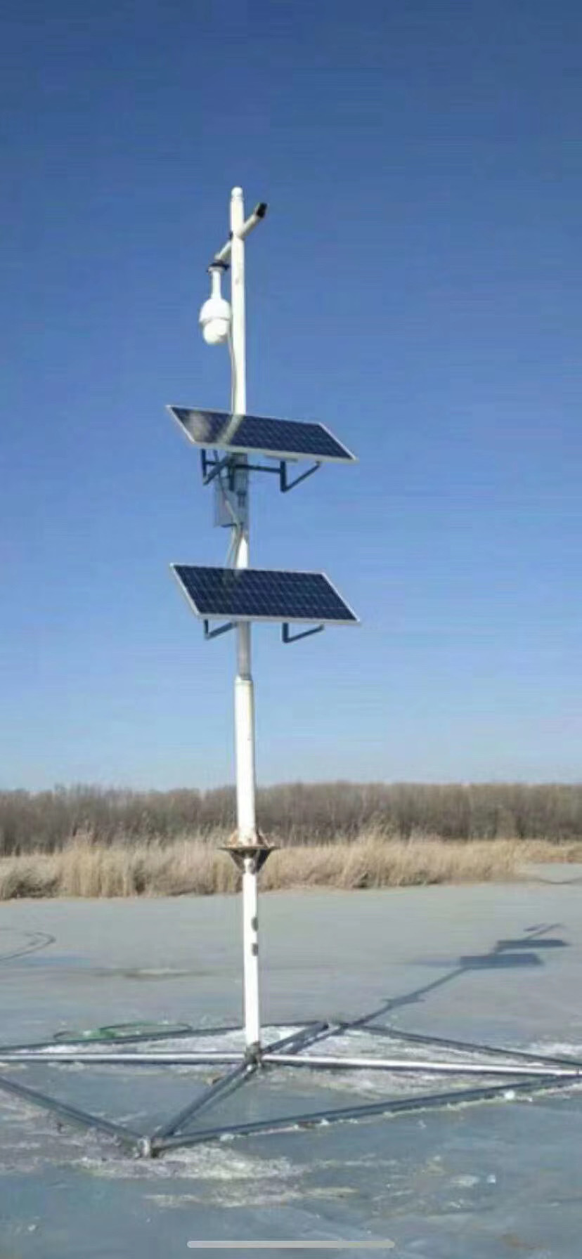 Solar panels for surveillance cameras
