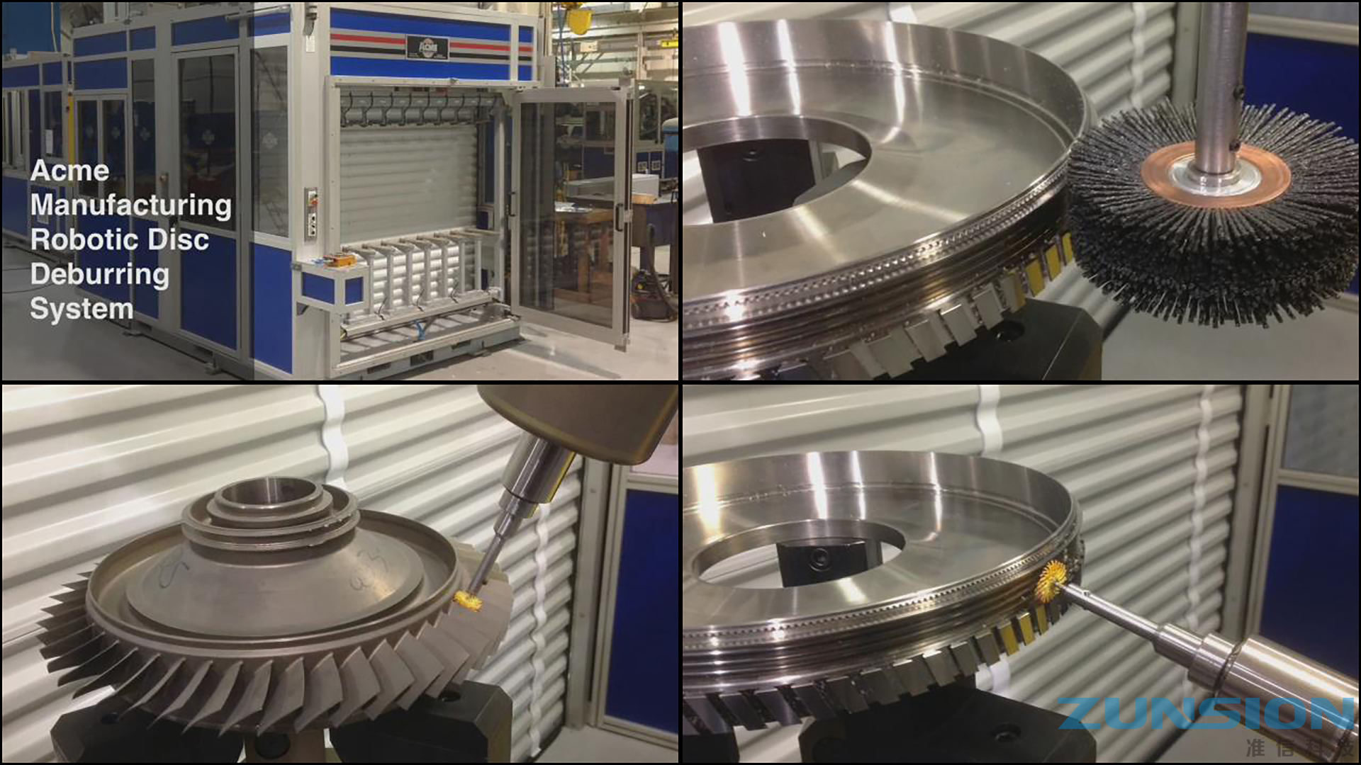 Aircraft impeller grinding and polishing