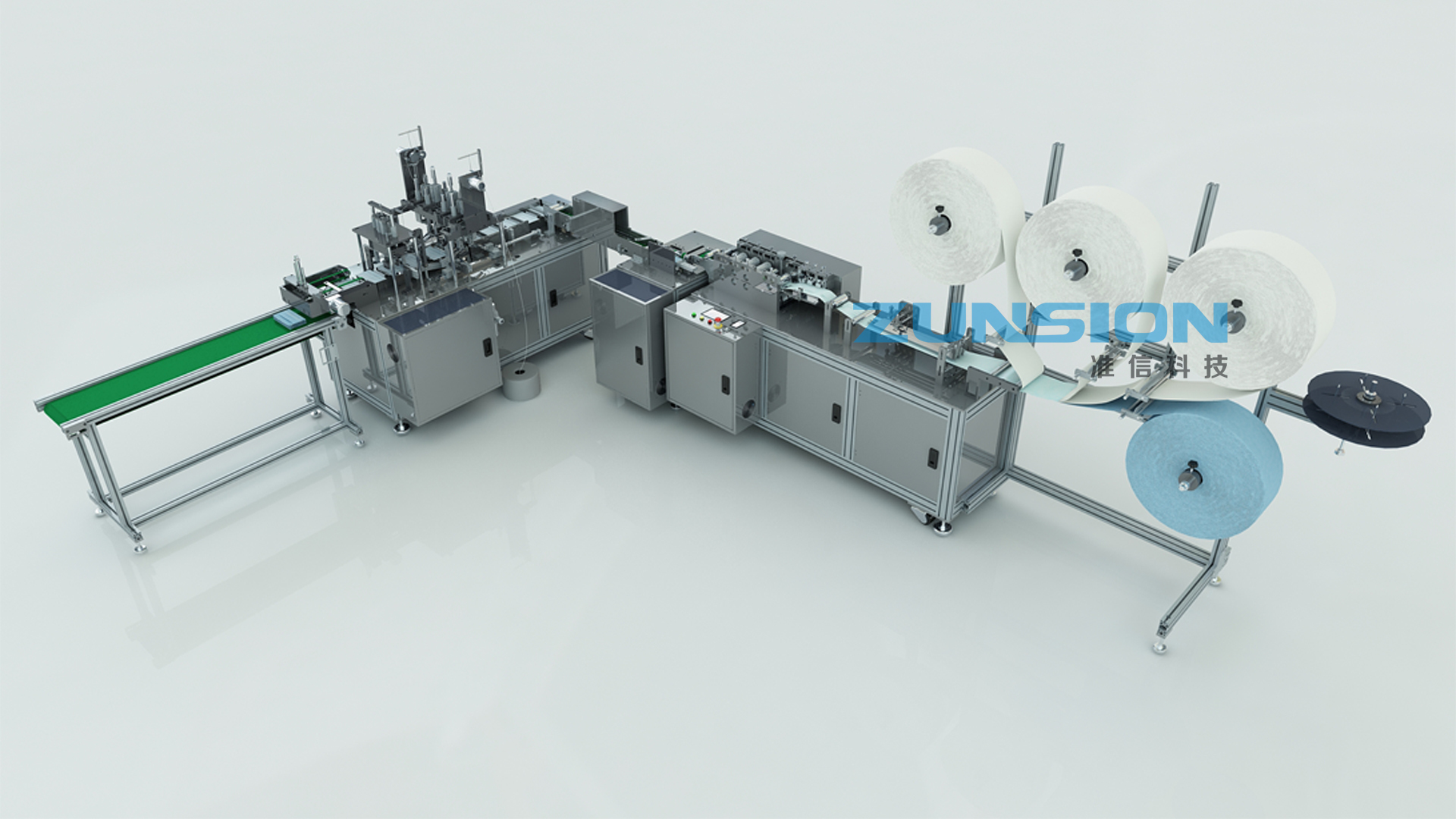 Fully automatic production equipment for flat masks