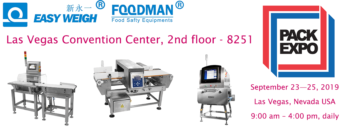 Easyweigh Equipment and FOODMAN® in PACK EXPO Las Vegas 2019