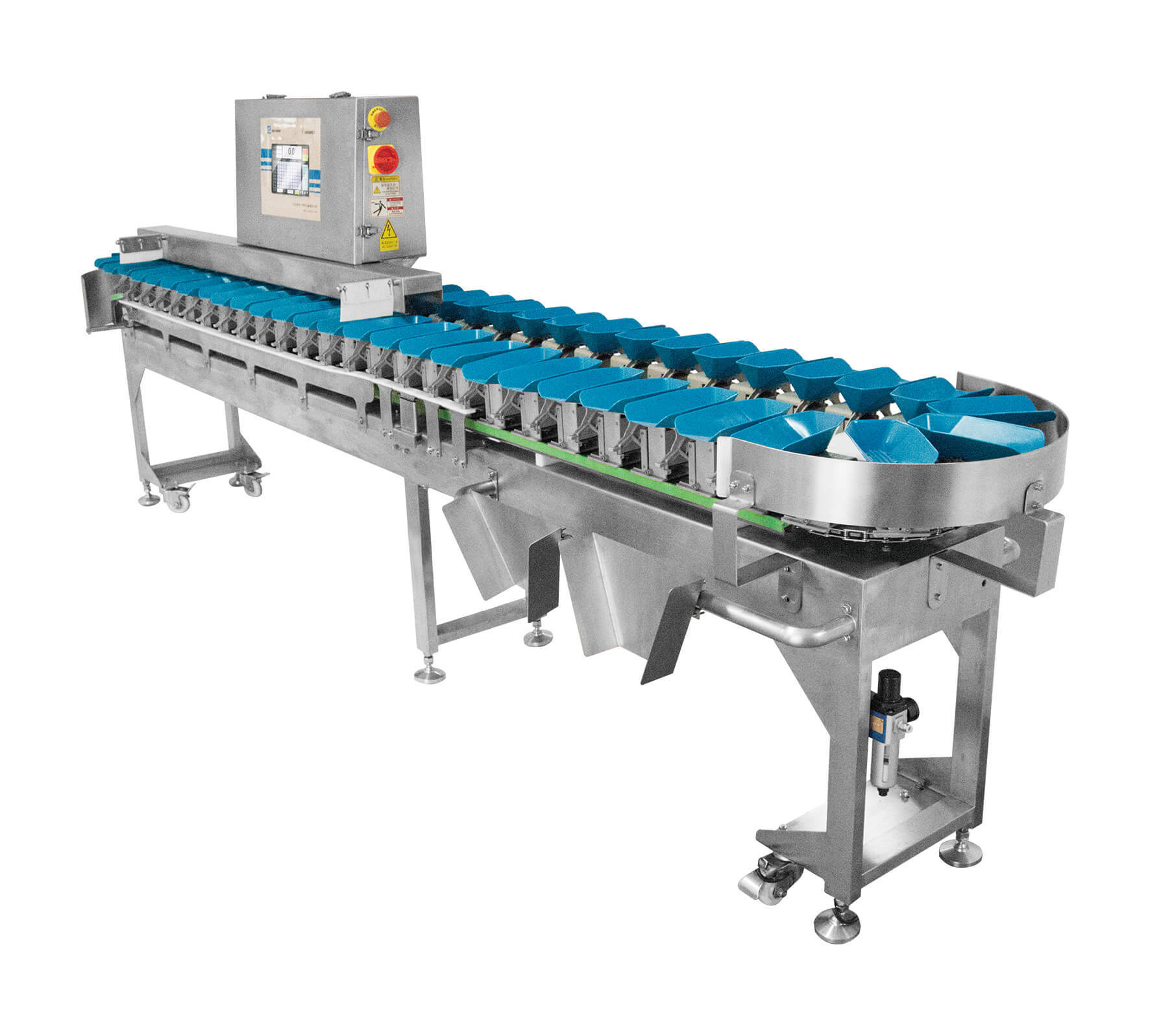 Rotating Tray weight sorting machine suitable for marine.