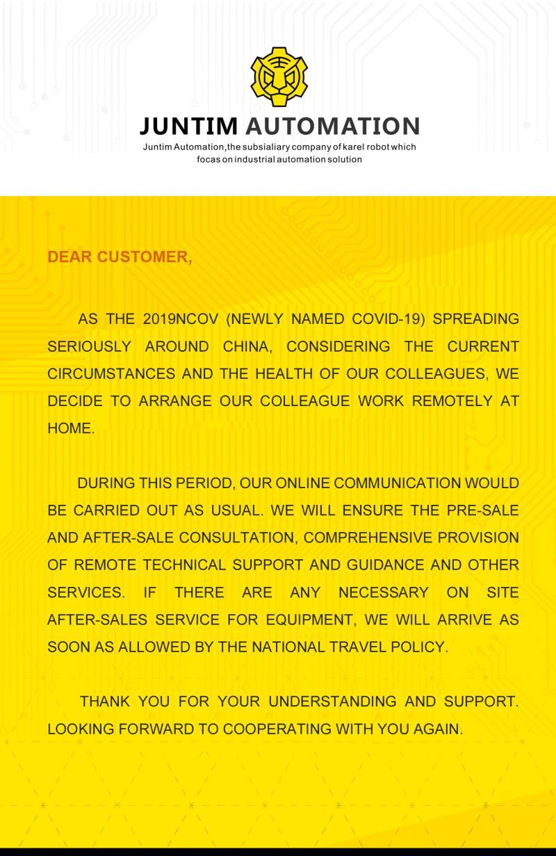 Notice for our customers.