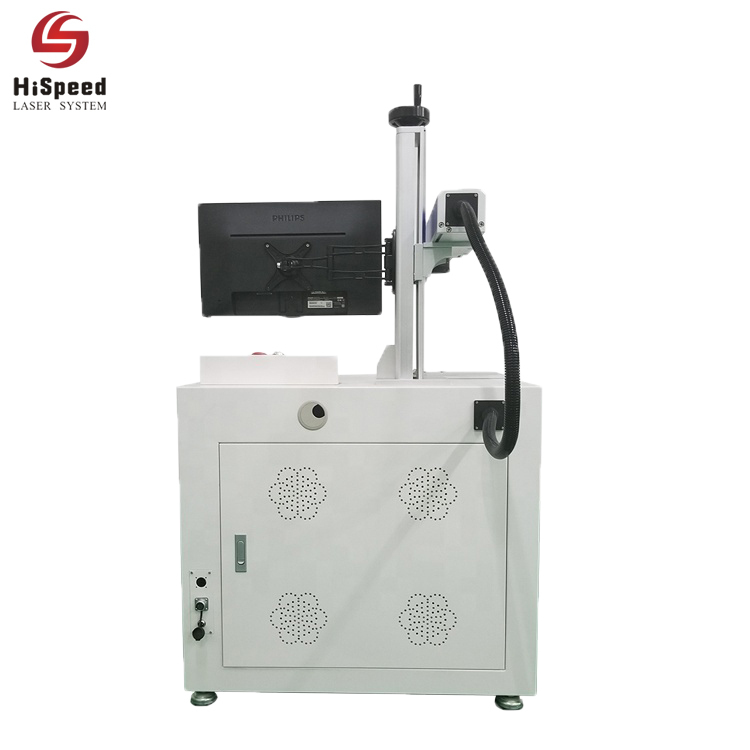 MOPA Laser marking machine with rotary table for marking