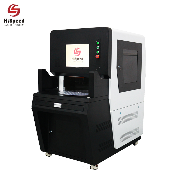 Hispeed Automatic Double Station Fiber Laser Marking Machine