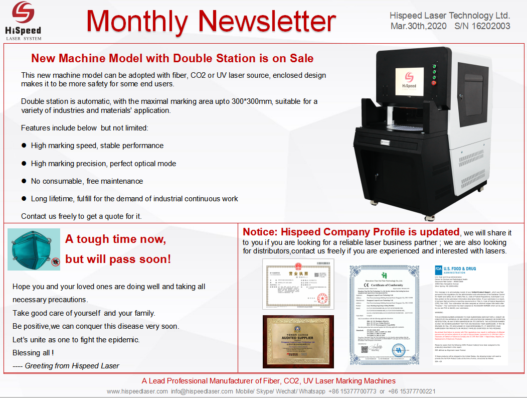 Monthly Newsletter- March.Thank you for your attention!
