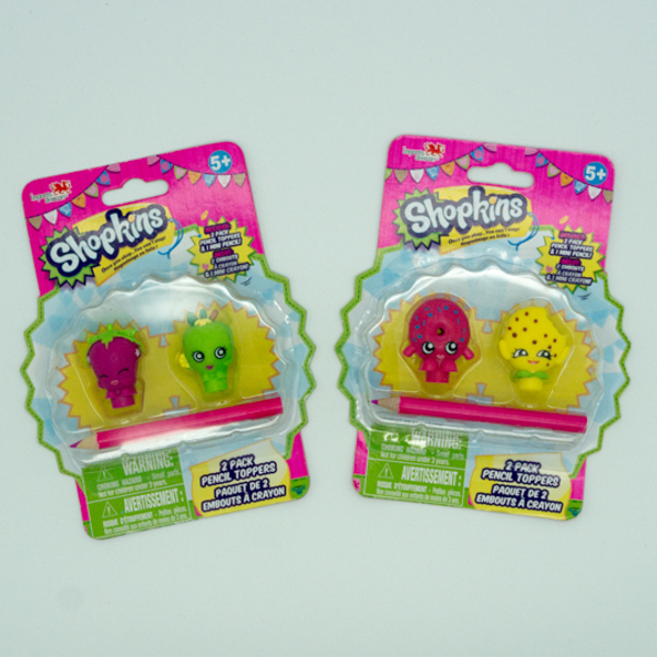 China Factory Shopkins Toys Plastic Pencil Topper