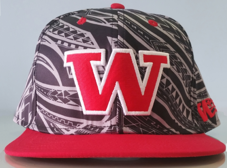 Fashion printing pattern 3D embroidery snapback cap supplier