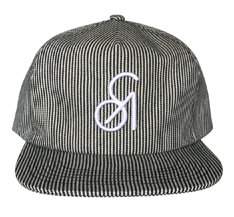 Custom 5 Panel strip pattern snapback cap factory