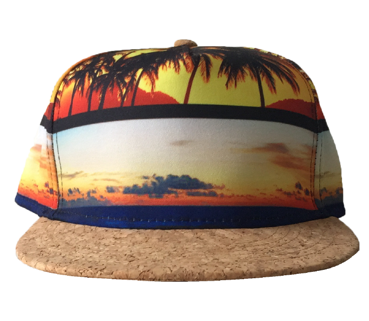 Custom printing brim 5 panel hat snapback cap supplier