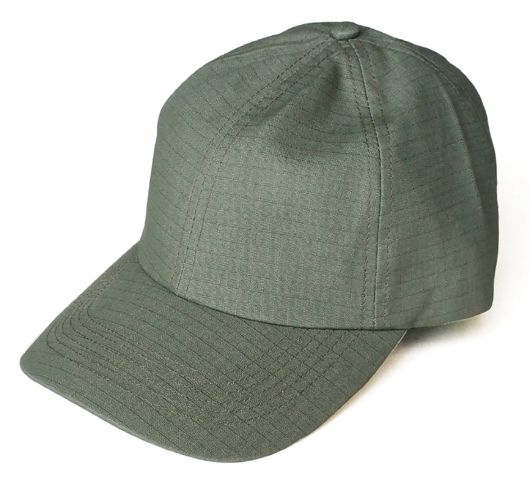 Custom army green ripstop material dad hat factory
