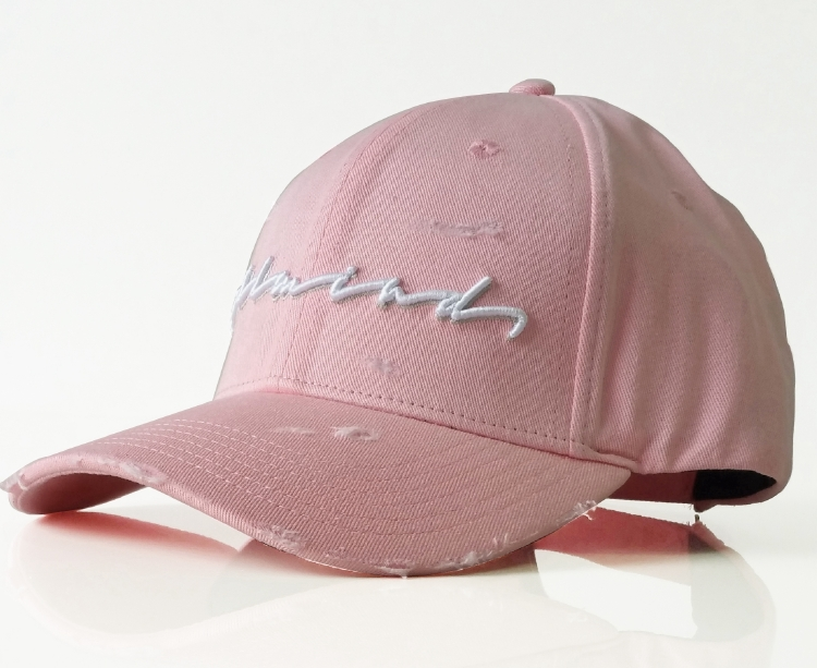 Custom washed fabric cotton with rip baseball cap