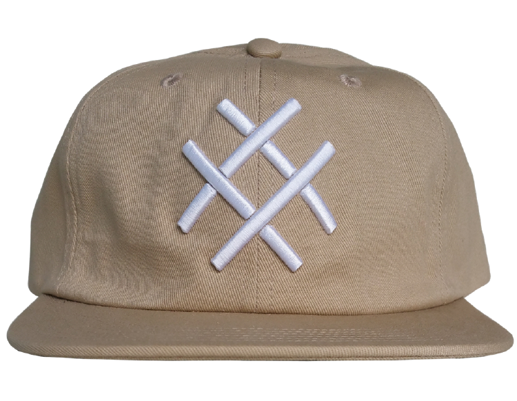 Custom design 6 panel  khaki colour snapback cap