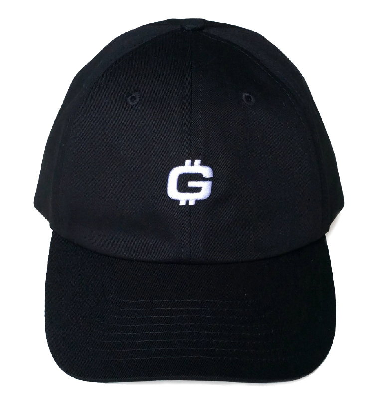 Custom logo black cotton material dad hat