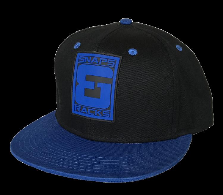 7701d12853f60 ... Custom blue leather rubber snapback cap factory ...