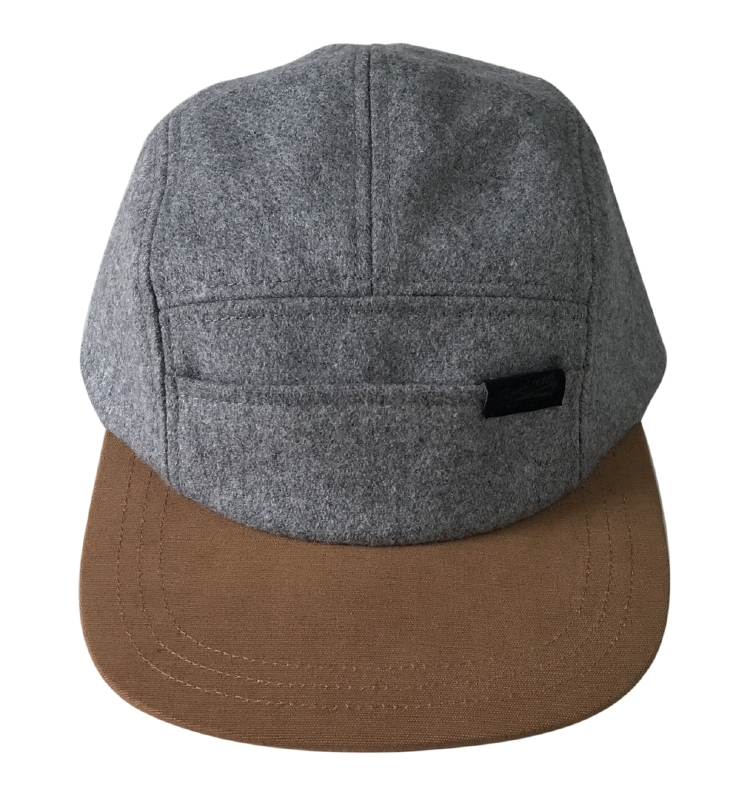 Custom wool material 5 panel snapback cap manufacturer