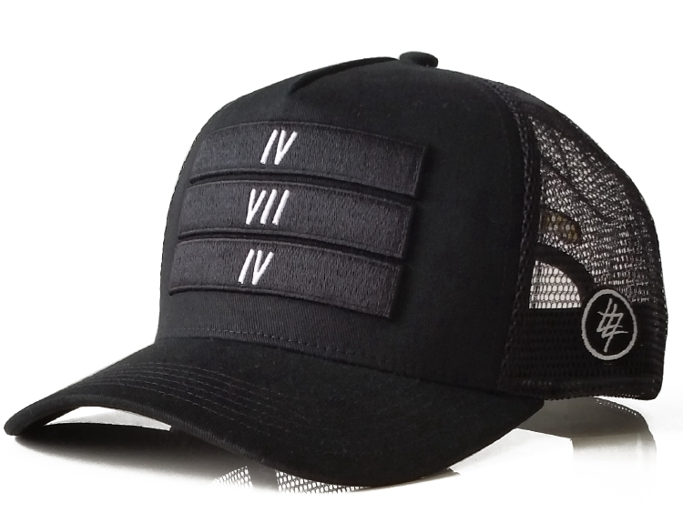 Fashion black cotton 6 panel style trucker hat supplier