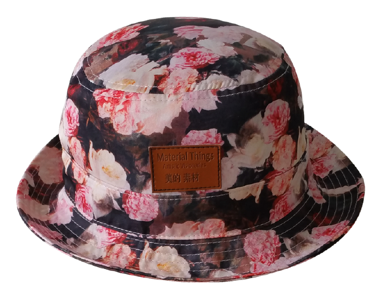 Fashion printing floral pattern bucket hat factory