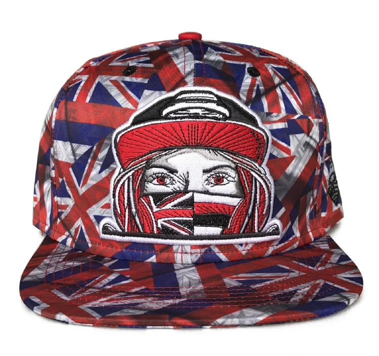 Fashion sublimation printing 6 panel snapback cap