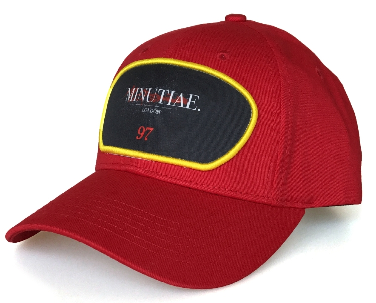 Fashion red cotton 5 panel baseball cap supplier