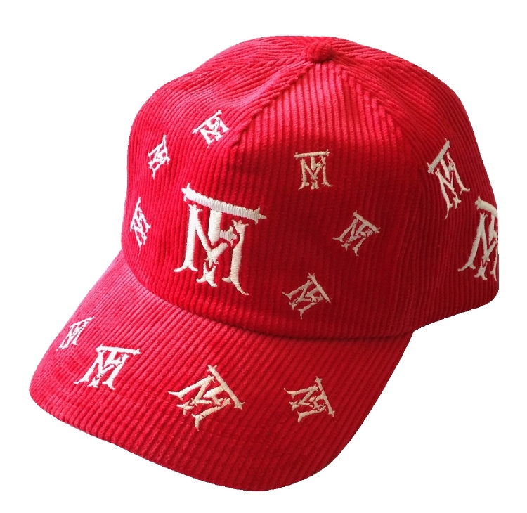 Custom corduroy materail baseball cap supplier in China