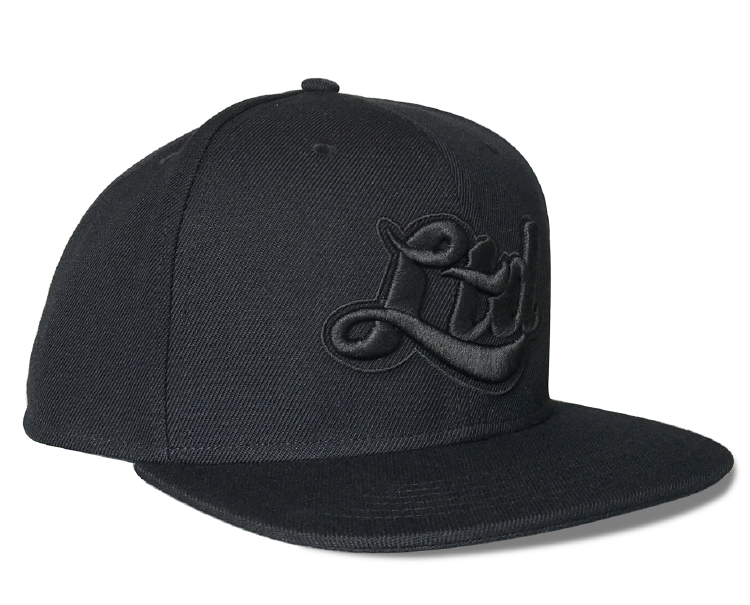 High qulaity black snapback cap 3D embroidery logo cap