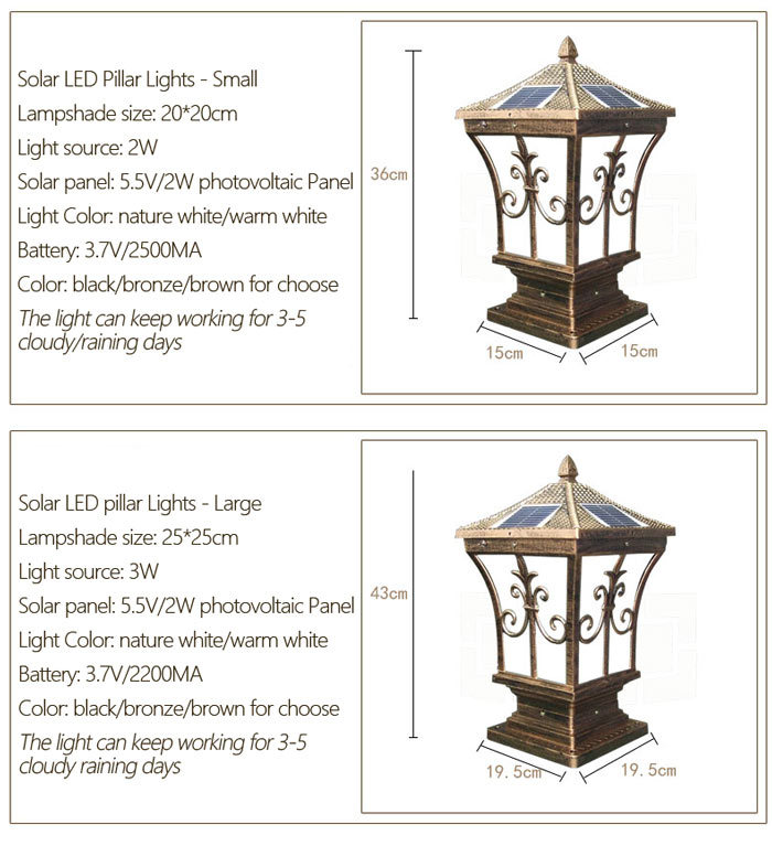 Related Products Solar Energy Saving Pillar Lamp