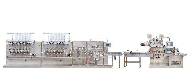 HM-ZD1280A&HM-BZ3060  全自动高速湿巾折叠机&包装机(40-120片/包)