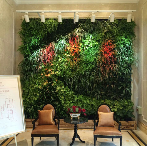 Factory Wholesale Cheap Artificial Plant Wall Fake Landscape